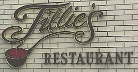 Sign from Tillie's Restaurant, McKeesport, PA